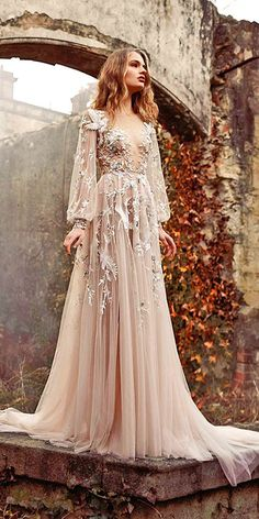 floral applique wedding gowns 14