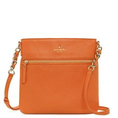 I have this crossbody in black, but the orange is so pretty!