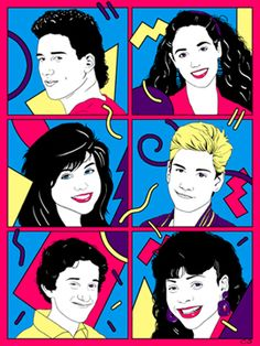 Saved By the Bell Painting