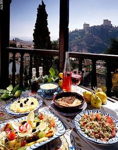 Gorgeous #spanishfood...that is my idea of tapas perfection ..with a view