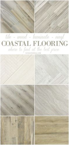 Home Decor 2019 Best Flooring for a Beach House - Where to get premium tile, wood, luxury vinyl, and bamboo with lots of pics of coastal rooms. These weathered wood looks are gorgeous.