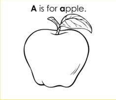 ask your kid or kids to color this apple