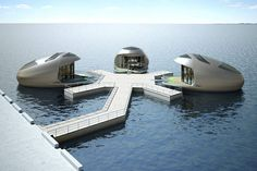 Home Afloat - Floating Homes and Structures Floating Pontoon, Floating Hotel, Floating Island, Sci Fi Wallpaper, Floating Architecture, Glam Camping, Marine Engineering, Group Of Companies, Outdoor Activities