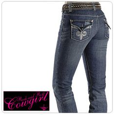 Got my 1st pair of Rock and roll cowgirl jeans!  :)