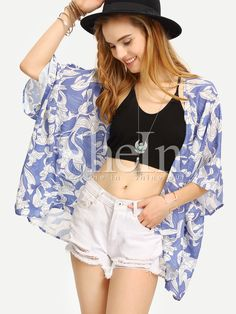 Shop Multicolor Short Sleeve Floral Print Kimono online. SheIn offers Multicolor Short Sleeve Floral Print Kimono & more to fit your fashionable needs.