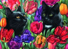 Among the Tulips 1000 pc puzzle