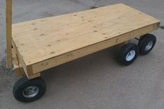 wood transporting trolley 6 Wheel Garden Wagon: 5 Schritte (mit Bildern) - Instructables How To Sele Lawn Tractor Trailer, Trailer Deck, Metal Cart, Metal On Metal, Hand Cart, Dump Trailers, Stainless Steel Counters, Garden Cart, Used Tires