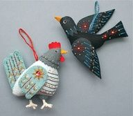 embroidered birds - Google Search
