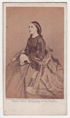 Princess Charlotte of Belgium, circa 1860.