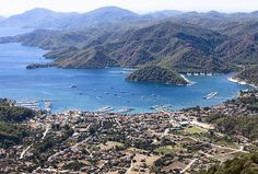 Map of the cruise route for Gocek-Marmaris-Gocek, private yacht rental, www.barbarosyachting.com