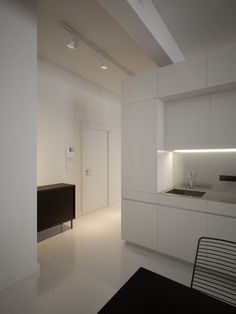minimalist kitchen cabinet design for modern white kitchen cabinets slab front with sink and brown wooden island table
