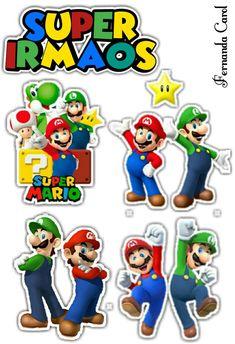 Super Mario Bros, Super Mario Birthday, Mario Birthday Party, Super Mario Party, Bolo Do Mario, Bolo Super Mario, Mario E Luigi, Mario Run, Nintendo Party