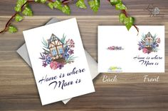 Mothers day card PRINTABLE Mother Card by LindaButtercupDesign