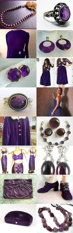 Purple Valentine's Day ❤ by Dorota and Monika on Etsy--Pinned with TreasuryPin.com