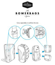 BOWERBAGS modular backpacks