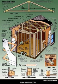 Storage Shed Projects - CLICK THE PIC for Lots of Shed Ideas. #backyardshed #shedplansdiy