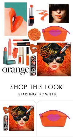 """orange"" by aazraa ❤ liked on Polyvore featuring beauty, ILI and Illamasqua"