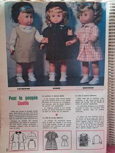 """PAR AMOUR DES POUPEES :: Publicité du magazine """"Lisette"""" 1965 poupée Lisette de Gégé"""
