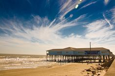 Galveston, Texas beach  We go to this shop every time we're in Galveston