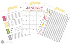 Loving these Printable calendars - I'm dedicated to a more organized 2015 :-)