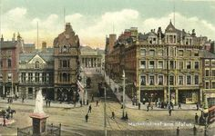 Market Street and the Queen Victoria Statue, Nottingham, c1910.