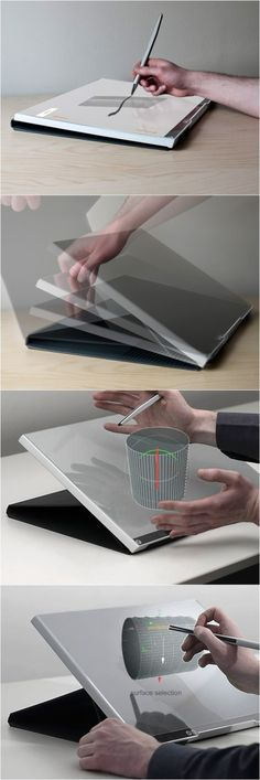 [Concept] What if a laptop cover is also a digital 3D drawing board? Designers will love it