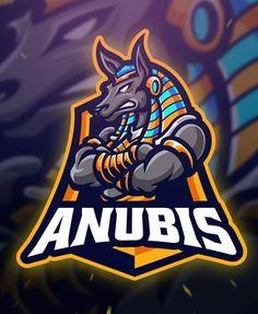 Anubis Sport and Esport Logo Template by Blankids on Envato Elements Logo Desing, Team Logo Design, Mascot Design, Logo Animal, Gaming Logo, Esports Logo, Sports Team Logos, E Sport, Professional Logo Design