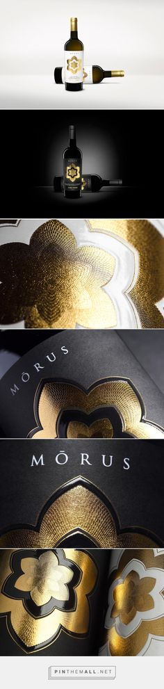Mōrus Wine packaging design by Spazio Di Paolo (Italy) - http://www.packagingoftheworld.com/2016/04/morus-wine.html