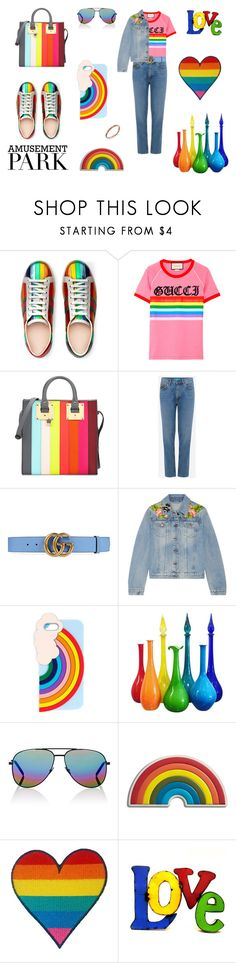 """Parks And Recreation"" by tomi-vugrinec ❤ liked on Polyvore featuring Gucci, Sophie Hulme, M.i.h Jeans, Miss Selfridge, Yves Saint Laurent, Anya Hindmarch, Rustic Arrow, Sydney Evan, amusementpark and 60secondstyle"
