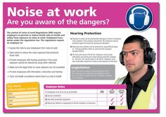 Buy your Are You Aware Of The Dangers Noise At Work Poster online with Seton. Clear photos combined with informative text that promotes health and safety. Health And Safety Poster, Safety Posters, Hearing Protection, Online Posters, Workplace Safety, Construction, Ads, Building