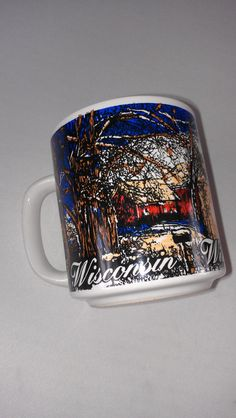 #Wisconsin State #Coffee Mug Cup KWC #80s #90s http://etsy.me/1LODyTd #collectible #vintage #etsy #tbt