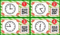 QR codes are all the rage, and they will have your students excited about telling time! This title contains 12 self-checking center/task QR code cards, one recording sheet, and one 10-problem worksheet. Times are to the nearest five minutes. $
