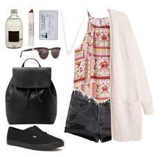 """""""Untitled #90"""" by lola-ala7la ❤ liked on Polyvore featuring H&M, Culti, Topshop, Prism, Monique Péan, Vans and MANGO"""