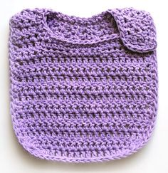 Terrific Totally Free Crochet baby bibs Strategies This classic style baby bib is crocheted all in one piece with no sewing required. It starts from t Crochet Baby Pants, Crochet Bib, Baby Blanket Crochet, Free Crochet, Newborn Crochet, Crochet Granny, Crochet Shawl, Free Knitting, Crochet For Beginners