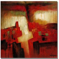 Antonio Abstract I by Antonio Painting Print on Wrapped Canvas