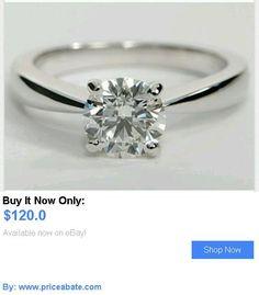 Wedding rings: .50Ct Round Cut Solitaire Ring In 14K White Gold BUY IT NOW ONLY: $120.0 #priceabateWeddingrings OR #priceabate