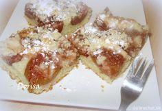 Fotorecept: Hrnčekový slivkový koláč  s posýpkou Sweet Recipes, French Toast, Fruit, Breakfast, Basket, Morning Coffee