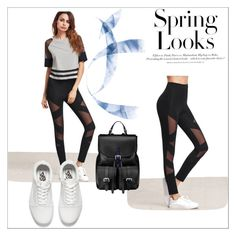 """""""Black and White"""" by dinaa45 ❤ liked on Polyvore featuring Aspinal of London, Vans and H&M"""