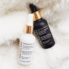 farsali rose gold elixir for daytime moisture and volcanic elixir for night time. both have anti aging elements and are known to help reduce acne. good for all skintypes!