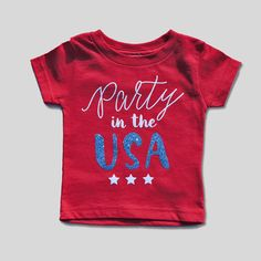 Party in the USA Shirt July 4th Tee July 4th Girl by babytruth