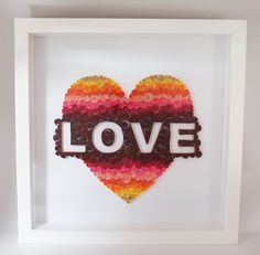 Handmade paper quilling LOVE framed in shadow box by SinyeeCraft