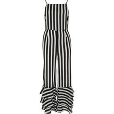 dfb58e2281 Black stripe tiered frill jumpsuit - Jumpsuits - Playsuits   Jumpsuits -  women