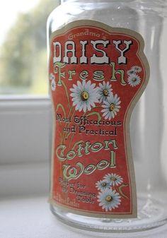 "Vintage Glass Jar ""Daisy"""