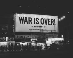 war is over. john and yoko.