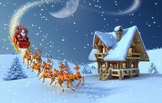 40 Los Mejores Wallpapers Ultra Hd Navidad (The Best 40 cristmas wallpaper ultra hd Merry Christmas Pictures, Merry Christmas Images, Beautiful Christmas Cards, Christmas Wishes, Christmas Greetings, Christmas Time, Winter Christmas, Santa Sleigh, Santa And Reindeer