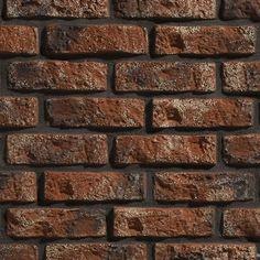 """Dekorsten Rustik 540 från Stegu av lättbetong ger dig snabbt en elegant """"stenvägg"""" inne eller ute. Dekorstenen bygger en tegelvägg i mättat mörkt rödbruna nyanser."""
