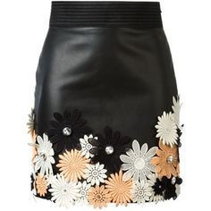 Emanuel Ungaro flower appliqué mini skirt