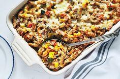 Baked Ziti with Summer Veggies Best Pasta Recipes, Chicken Pasta Recipes, Veggie Recipes, Healthy Recipes, Greek Spinach Pie, Vegan Stew, Baked Ziti, Weeknight Meals, Healthy Dinners