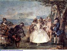 Giovanni Domenico Tiepolo  Commedia dell'arte  1757