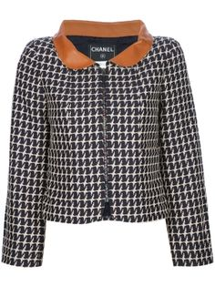CHANEL VINTAGE contrast collar jacket by farfetch